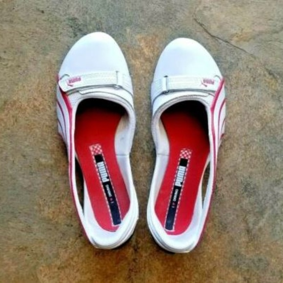 PUMA Espera III Ferrari White Leather Driving Shoe
